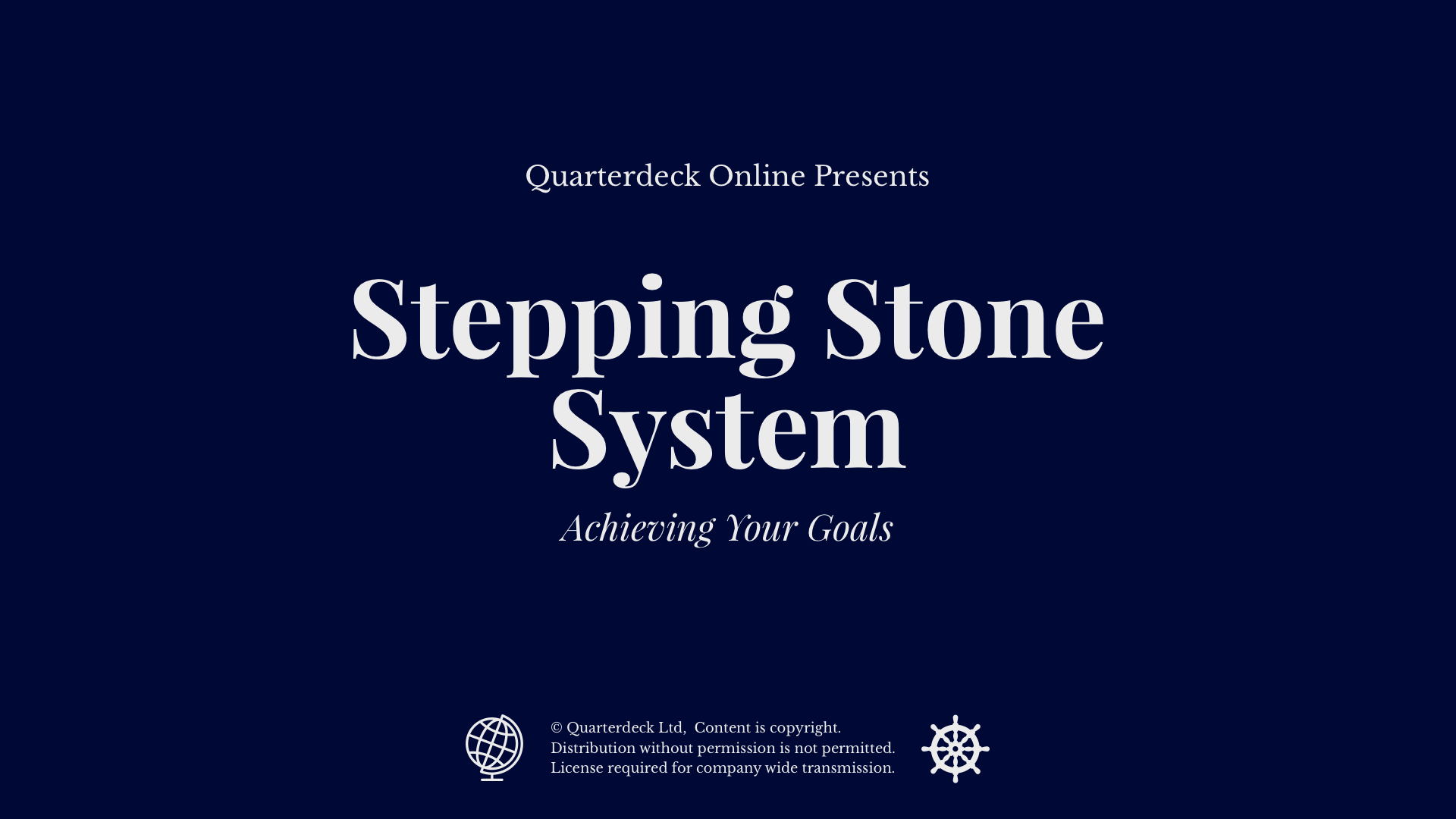 Stepping Stone System