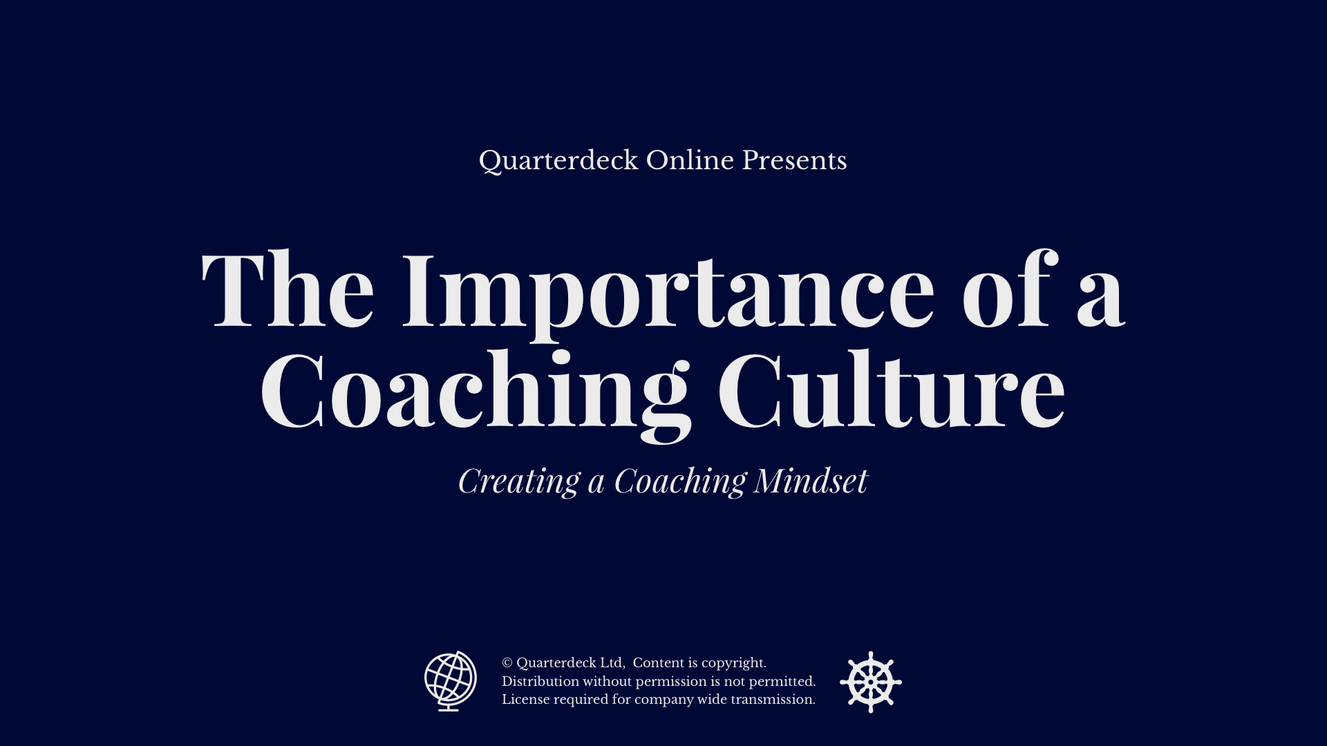 The Importance of a Coaching Culture
