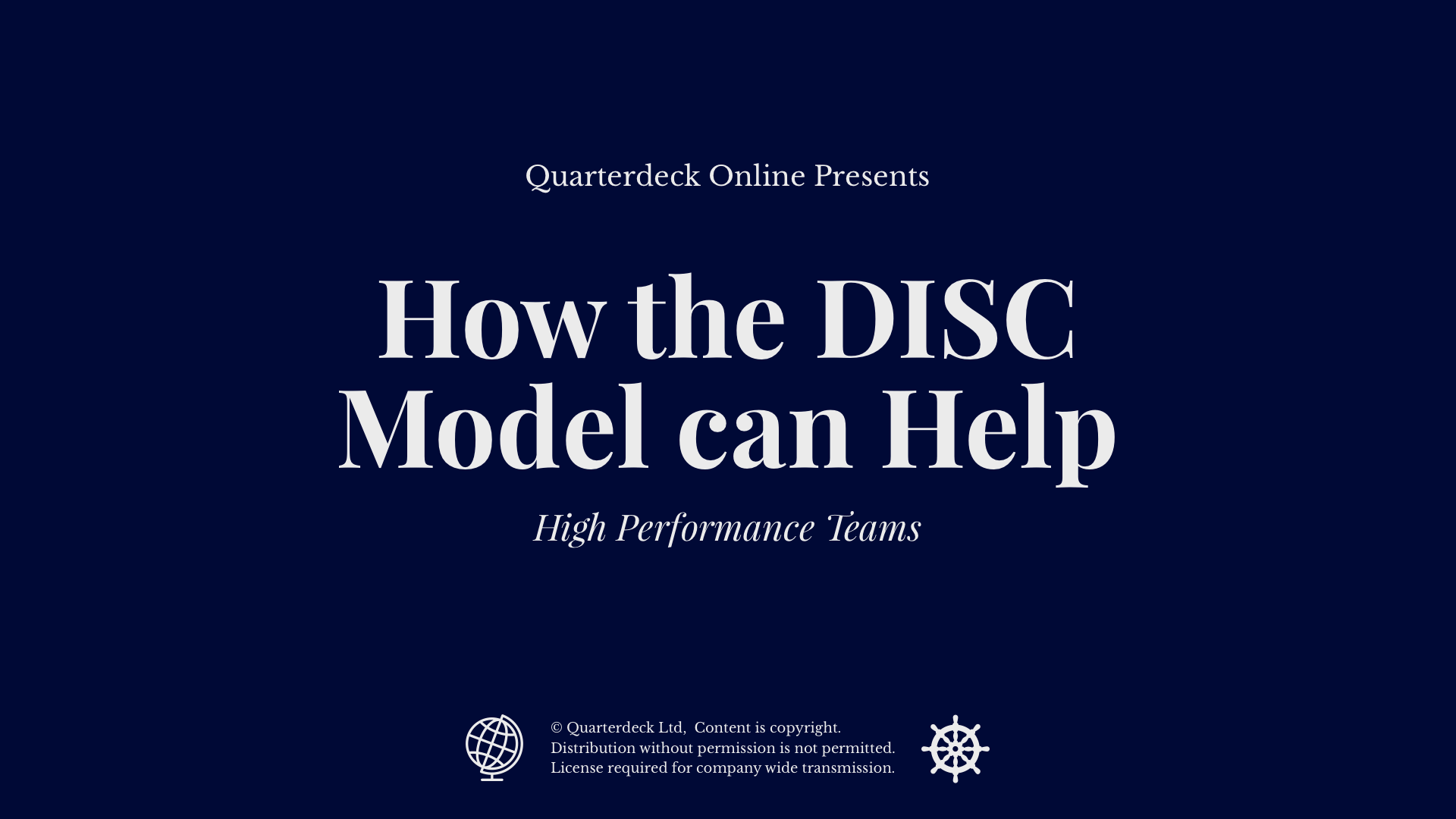 How the DISC Model can Help