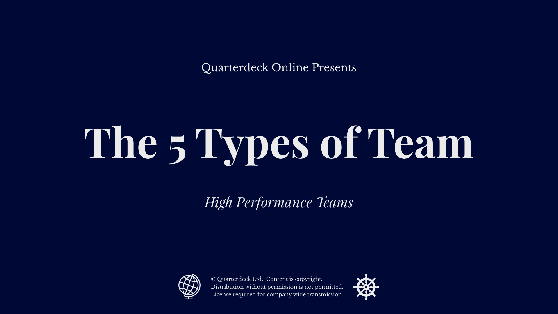 The 5 Types of Team